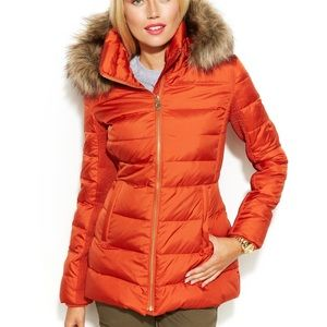 Michael kors orange puffer jacket